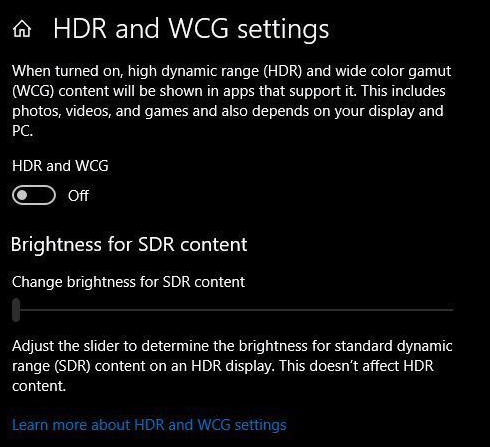 Die HDR-Einstellungen in Windows 10